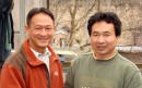 Brian Nguyen with Yoshikazu Otsuka ( Otsuka Koi Farm )