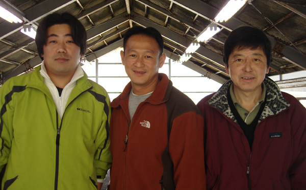 Brian Nguyen with Father and Son from Kase Koi Farm