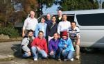 Group picture with Mr. Hisato Nogami of Nogami Koi Farm (stripe polo T-shirt) and Omosako Koi Farm (next to Mr.Hisato Nogami) and koi friends from Florida, Oregon, San jose, Hayward.